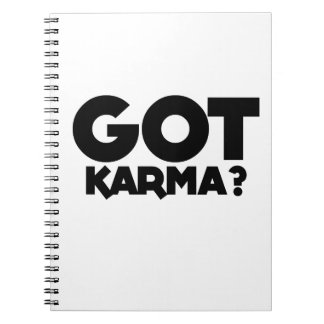 Caderno Espiral Karmas obtidas, palavras do texto