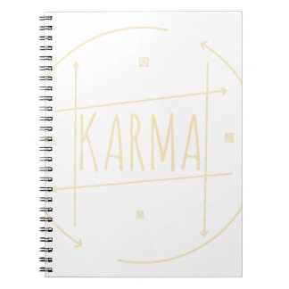 Caderno Espiral Karmas (para o fundo escuro)