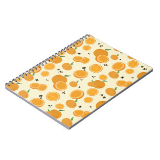 Caderno Espiral Laranjas