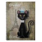 Caderno Espiral Le Conversa, La Reine o gato a rainha