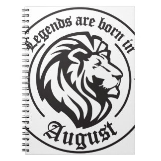 Caderno Espiral Legends are born in August