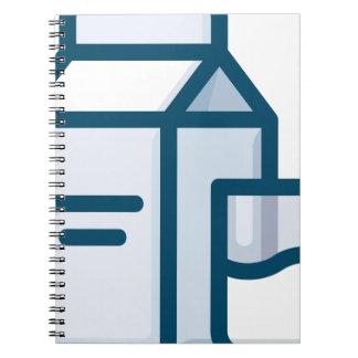 Caderno Espiral Leite