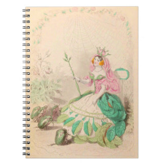 Caderno Espiral Les Fleurs aumentou