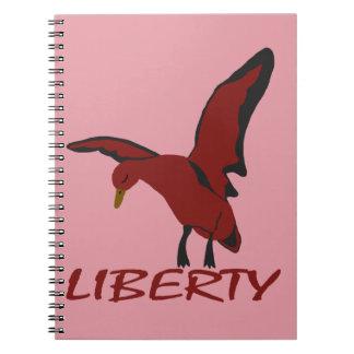 Caderno Espiral Liberdade do pato