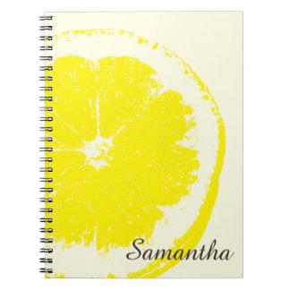 Caderno Espiral Limão