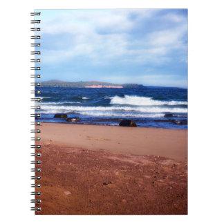 Caderno Espiral Linha costeira do Lago Superior