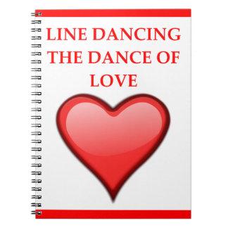 Caderno Espiral linha dança