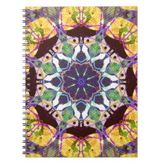Caderno Espiral Linhas concêntricas de cor