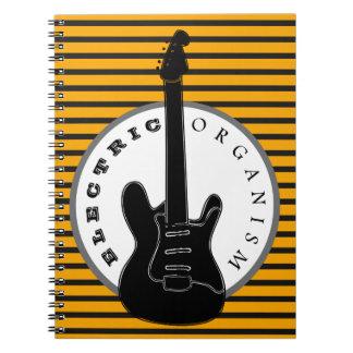 Caderno Espiral Listras elétricas da música do punk rock da