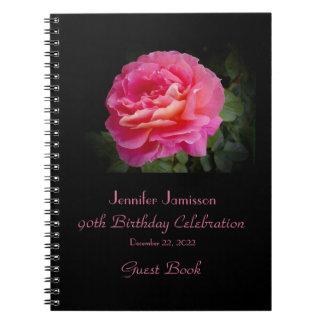 Caderno Espiral livro de hóspedes da festa de aniversário do 90,