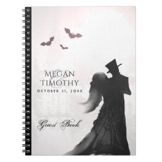 Caderno Espiral Livro de hóspedes de harmonização da silhueta dos