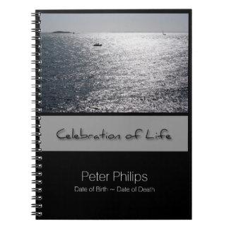 Caderno Espiral Livro de hóspedes memorável personalizado Seascape