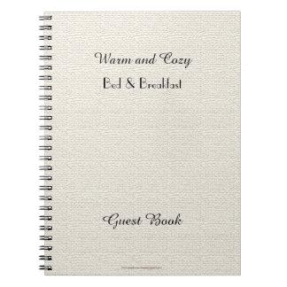 Caderno Espiral Livro de hóspedes rústico de B&B, serapilheira do