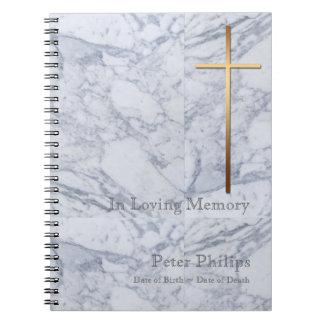 Caderno Espiral Livro de hóspedes transversal do memorial do