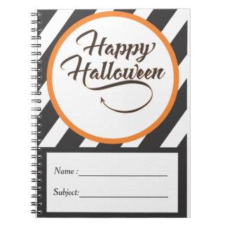 Caderno Espiral Livro de nota do Dia das Bruxas