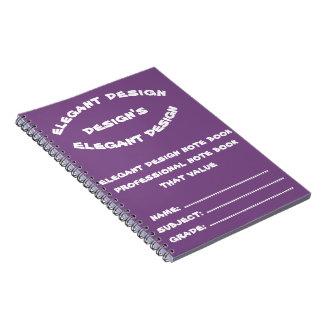 Caderno Espiral livro de nota profissional do design elegante que
