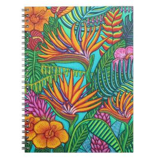 Caderno Espiral Livro de nota tropical das gemas