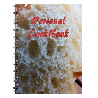 Caderno Espiral Livro de receitas do pão