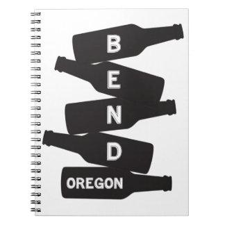 Caderno Espiral Logotipo da pilha da garrafa de cerveja de Oregon