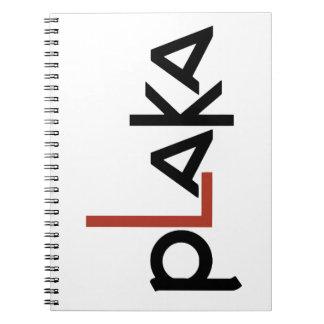 Caderno Espiral Logotipo de Plaka