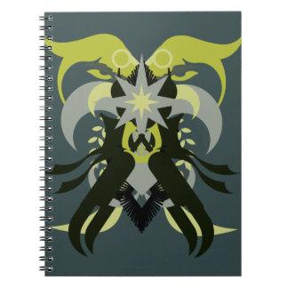 Caderno Espiral Loki da abstracção sete