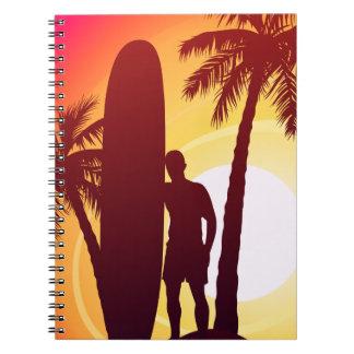 Caderno Espiral Longboard e palmas