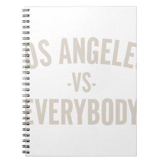 Caderno Espiral Los Angeles contra todos