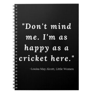 Caderno Espiral Louisa pode Alcott, citações pequenas das mulheres
