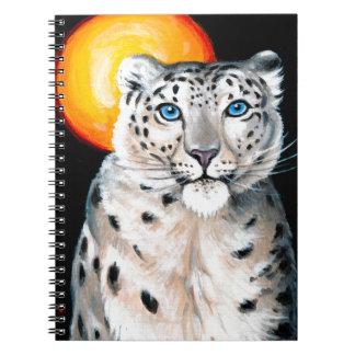 Caderno Espiral Lua do leopardo de neve