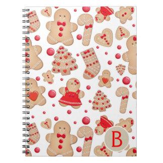 Caderno Espiral Lunático rústico cozido dos biscoitos do homem de