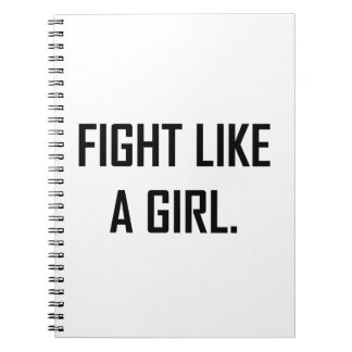 Caderno Espiral Luta como uma menina