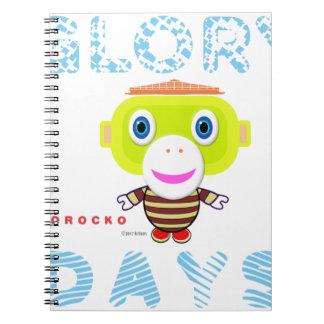 Caderno Espiral Macaco-Morocko Dia-Bonito da glória