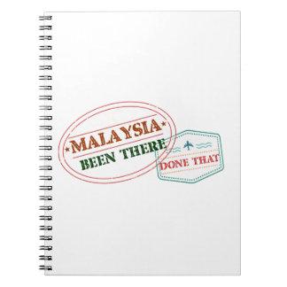 Caderno Espiral Malaysia feito lá isso
