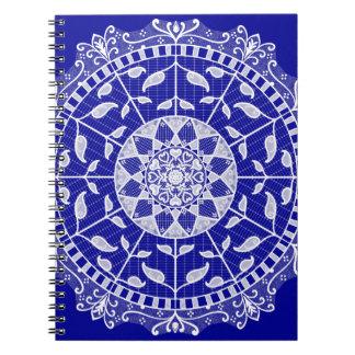 Caderno Espiral Mandala da safira