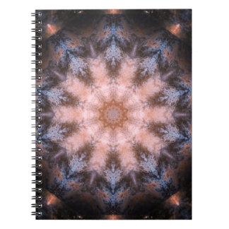 Caderno Espiral Mandala de Multiverse do Fractal