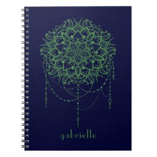 Caderno Espiral Mandala Jeweled elegante do zen