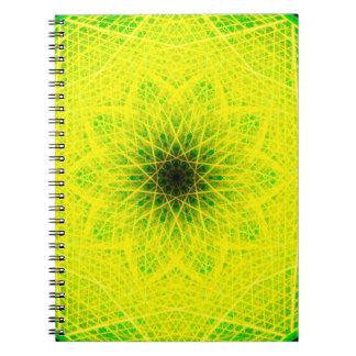 Caderno Espiral Mandala linear do limão