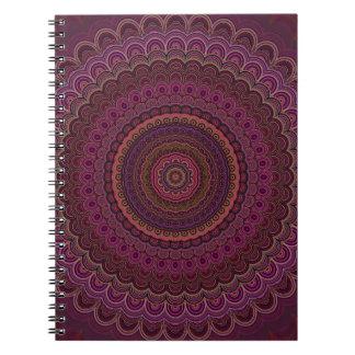 Caderno Espiral Mandala roxa escura