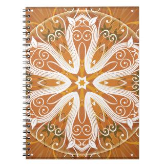 Caderno Espiral Mandalas do coração da liberdade 6 presentes