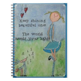 Caderno Espiral Mantenha brilhar o bonito!