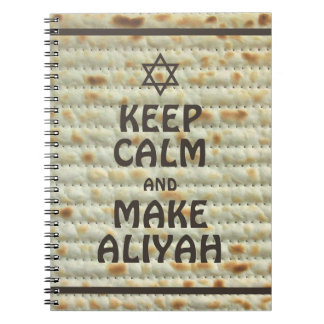 Caderno Espiral Mantenha calmo e faça Aliyah - Matzah