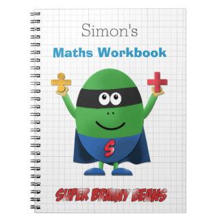 Caderno Espiral Manual de instruções personalizado dos maths dos
