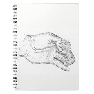 Caderno Espiral Mão artística