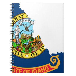 Caderno Espiral Mapa da bandeira de Idaho