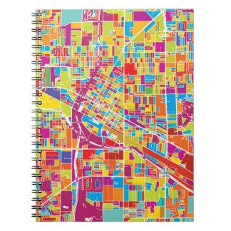 Caderno Espiral Mapa de Las Vegas colorido, Nevada