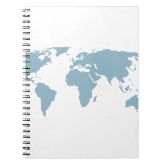 Caderno Espiral Mapa do mundo