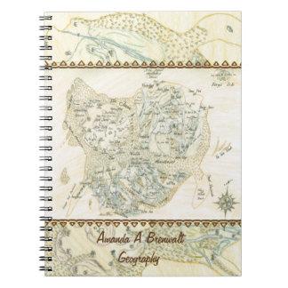 Caderno Espiral Mapa etiquetado de Trino