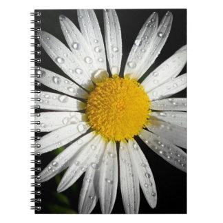 Caderno Espiral Margarida branca