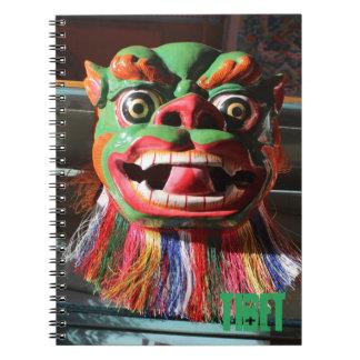 Caderno Espiral Máscara budista tibetana do festival