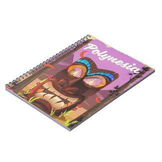 Caderno Espiral Máscara de Polinésia Tiki